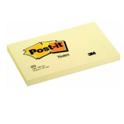 BL100 notas Post-it amarillas 76 x 127 mm. 655