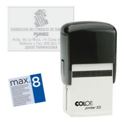 Printer 53.D 7 líneas personalizables 45x30 mm. Colop PR.53