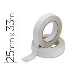 Cinta adhesiva doble cara 33 m. x 25 mm. Q-Connect 37881